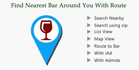 Bar Finder With Route - CodeCanyon Item for Sale
