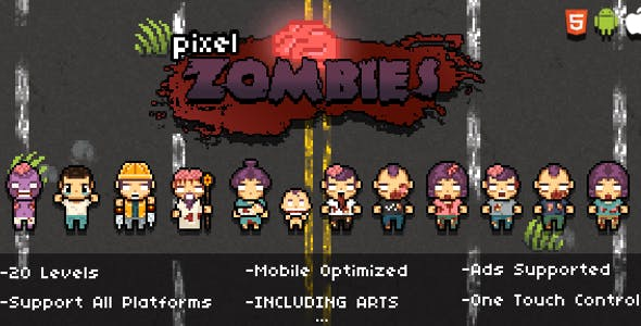Pixel Zombies (HTML5 Game)