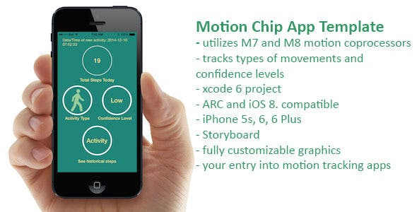 Apple Motion Coprocessor App Template for M7 and M8