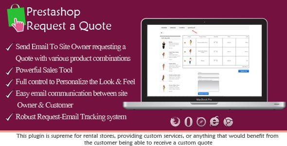 Prestashop Request a Quote