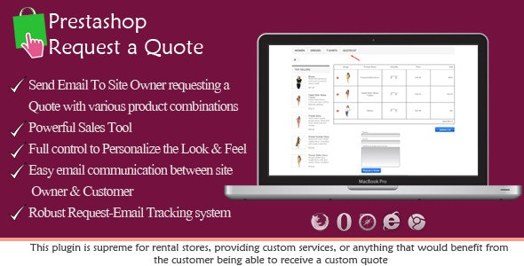 Prestashop Request a Quote - CodeCanyon Item for Sale