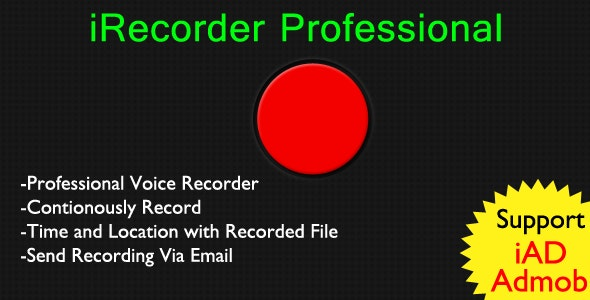 iRecorder Professional - CodeCanyon Item for Sale