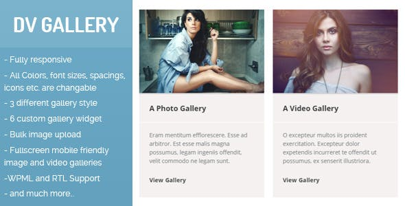 DV Gallery - Responsive Wordpress Gallery Plugin - CodeCanyon Item for Sale