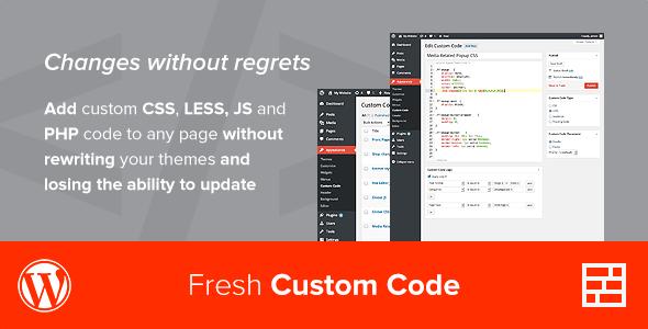 Fresh Custom Code - CSS/JS/PHP - WordPress Plugin - CodeCanyon Item for Sale