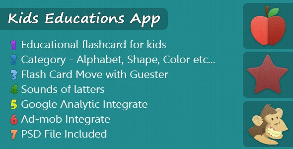KidsEducationApp - CodeCanyon Item for Sale