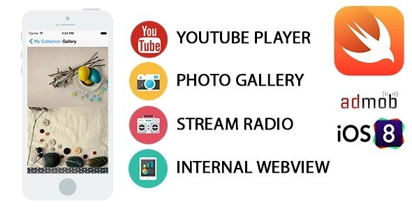All in One iOS Swift App - Youtube, Radio, Gallery - CodeCanyon Item for Sale