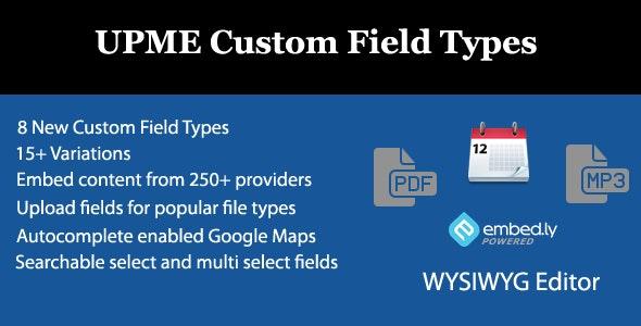 UPME Custom Field Types - CodeCanyon Item for Sale