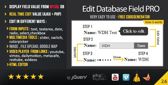 Edit Database Field PRO (Ajax + PHP)