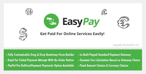 EasyPay: WordPress Paypal & Stripe Plugin to Pay Online