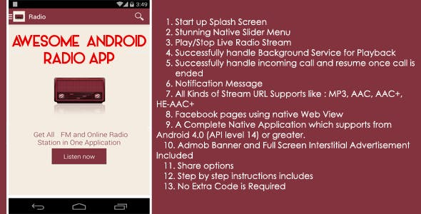 Android Full Radio Application