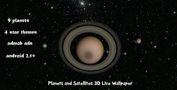Planets and Satellites 3D Live Wallpaper - CodeCanyon Item for Sale