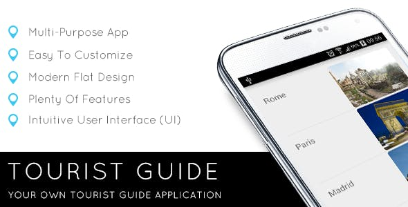 Tourist Guide App Template with AdMob