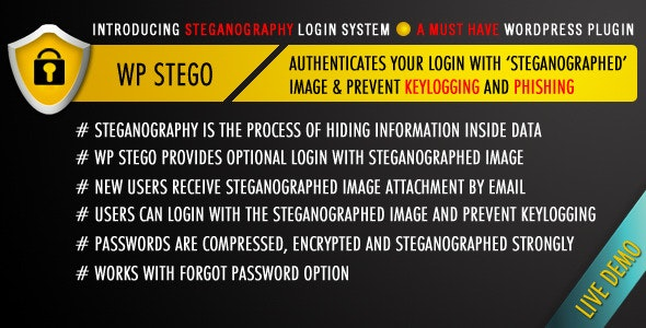 WP Stego Login: Prevent Keylogging and Phishing - CodeCanyon Item for Sale