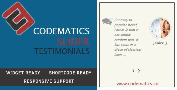 CodeMatics  Testimonial Slider