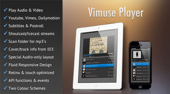Vimuse - HTML5 Media Player        Nulled