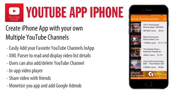 iOS YouTube App  - CodeCanyon Item for Sale
