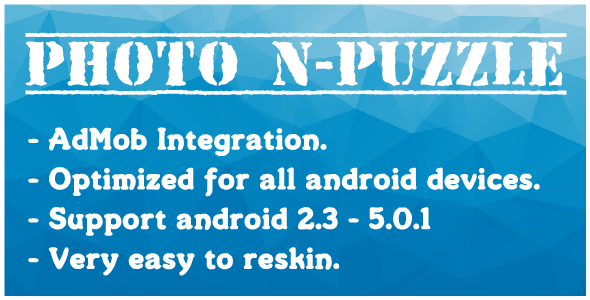 Photo N-Puzzle With AdMob - CodeCanyon Item for Sale