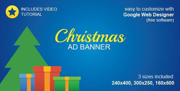 HTML5 Christmas Ad Banner