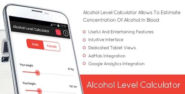 Alcohol Level Calculator - CodeCanyon Item for Sale