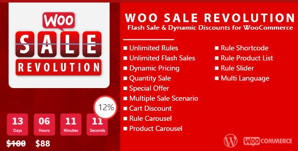 Woo Sale Revolution:Flash Sale+Dynamic Discounts