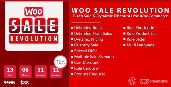 Woo Sale Revolution:Flash Sale+Dynamic Discounts