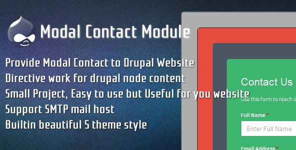 Modal Contact for Drupal - CodeCanyon Item for Sale