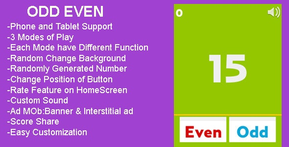 Odd Even - CodeCanyon Item for Sale