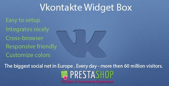 "Prestashop Module Widget Community Vkontakte ""We VKontakte"""
