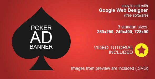 HTML5 Poker Ad Banner