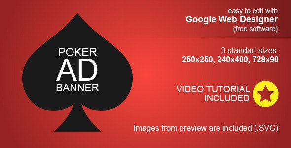 HTML5 Poker Ad Banner - CodeCanyon Item for Sale