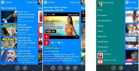 YouTube Application For Windows Phone 8, 8.1