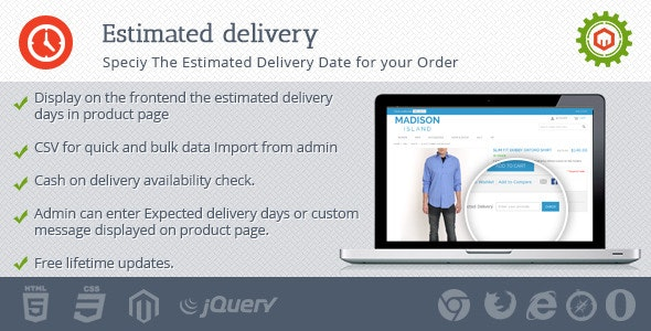 Estimated Delivery - CodeCanyon Item for Sale