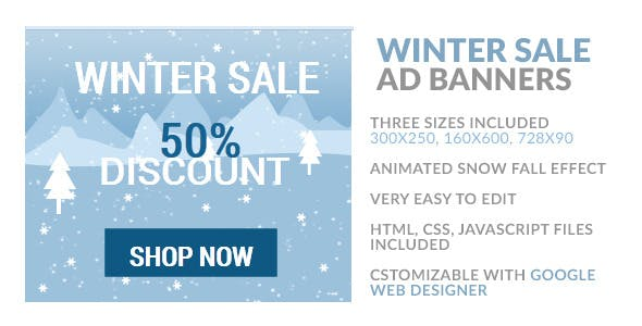 Winter Sale HTML5 Ad Banner