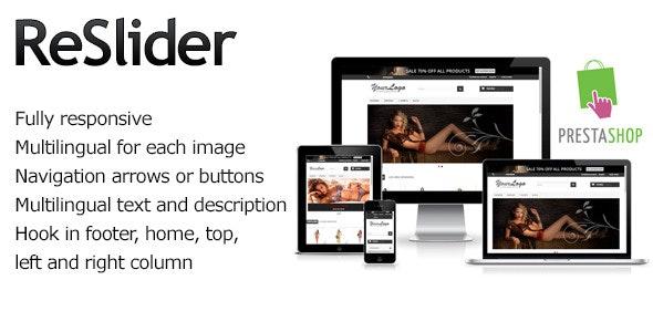 Prestashop ReSlider Multilingual Slider - CodeCanyon Item for Sale