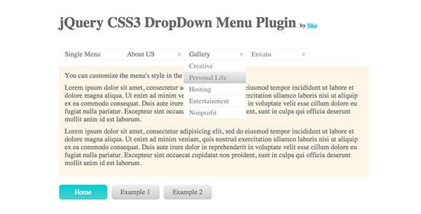 jQuery CSS3 DropDown Menu Plugin - CodeCanyon Item for Sale