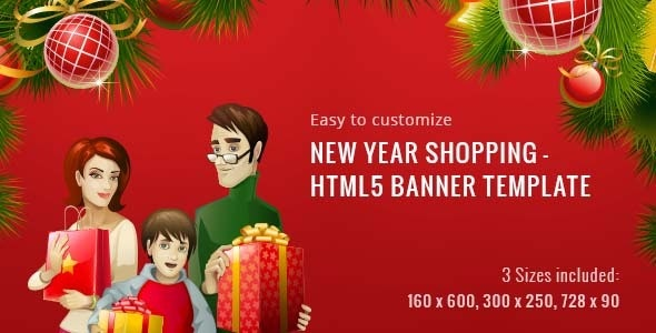 New Year Shopping | HTML5 Banner Template - CodeCanyon Item for Sale