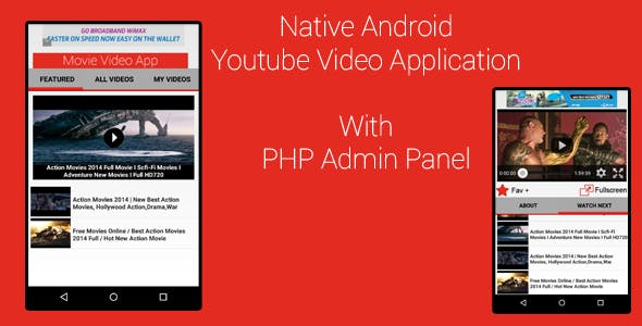 Android Youtube Video App With PHP Admin Panel
