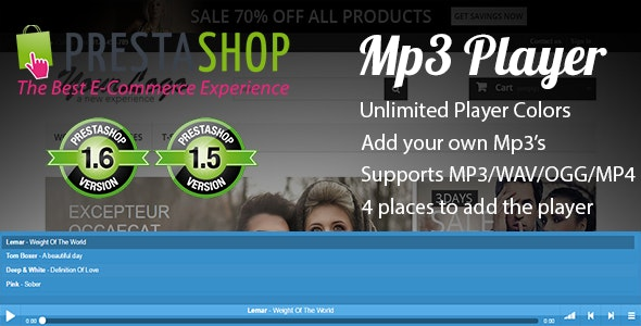 Prestashop Mp3 Player - CodeCanyon Item for Sale