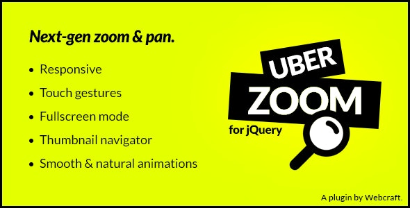 Uber Zoom - jQuery Smooth Zoom & Pan - CodeCanyon Item for Sale