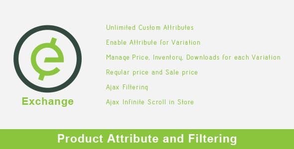 Exchange - Product Attribute and Filtering