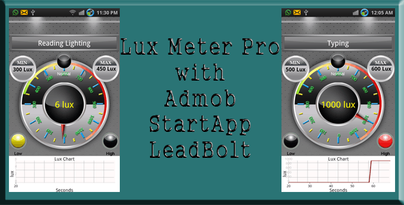 Lux Meter Pro with Admob, StartApp and Lead Bolt - CodeCanyon Item for Sale