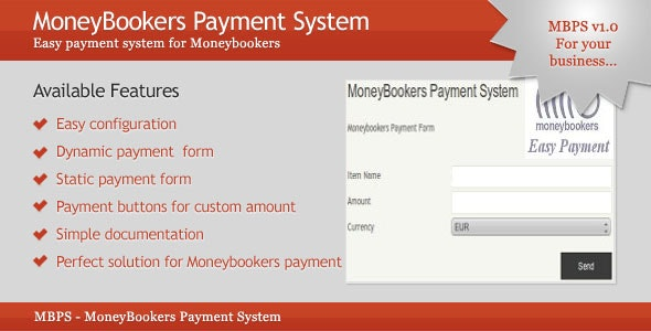 MoneyBookers Payment System - CodeCanyon Item for Sale