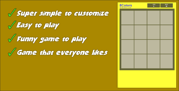 8Colors Memory Game - CodeCanyon Item for Sale