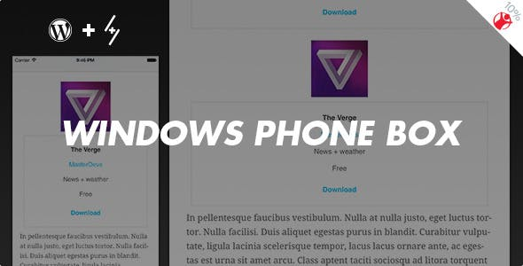 Windows Phone Box - App Review Boxes for WordPress