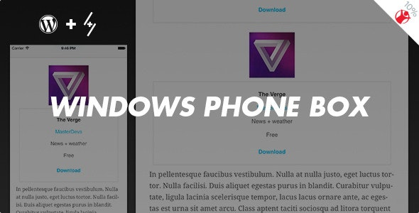 Windows Phone Box - App Review Boxes for WordPress - CodeCanyon Item for Sale
