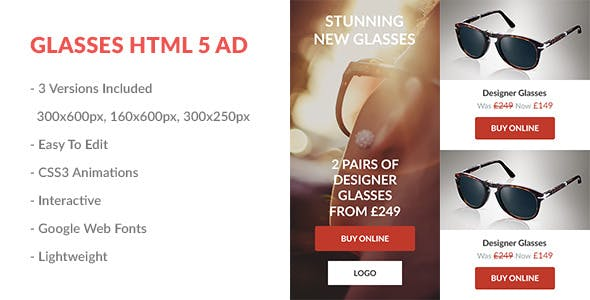 Glasses HTML5 Ad