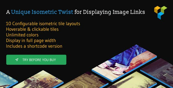 Isometric Image Tiles Shortcode for WPBakery Page Builder (formerly Visual Composer)