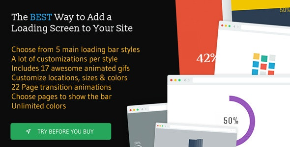 The Loading Bar WordPress Plugin - CodeCanyon Item for Sale
