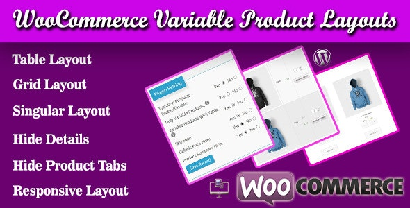 WooCommerce Variable Product Layouts - CodeCanyon Item for Sale