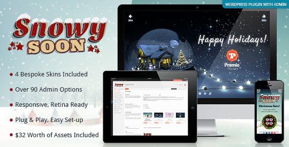 SnowySoon - Multipurpose Landing Placeholder eCard